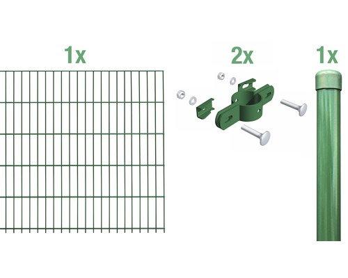Einstabmatte Anbauset 200x75 cm, grün