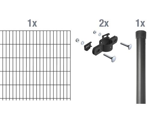 Einstabmatte Anbauset 200x125 cm, anthrazit
