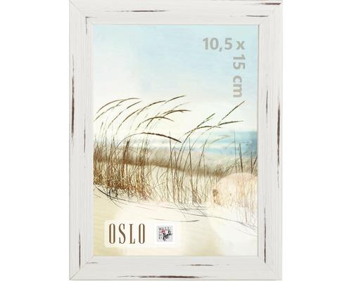 Bilderrahmen Holzoptik Oslo weiß 10x15 cm