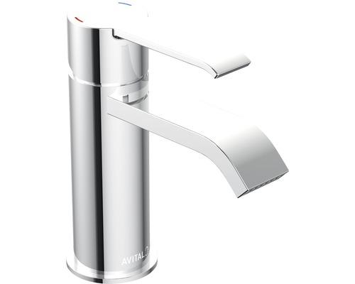 Waschtischarmatur AVITAL Fella chrom inkl. Push-open-Ablaufventil