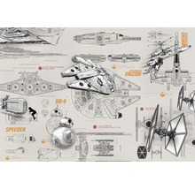 Fototapete Disney Edition 3 STAR WARS BLUEPRINTS 368 x 254 cm