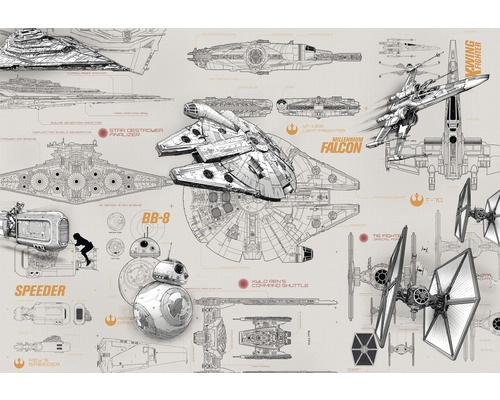 Fototapete Disney Edition 3 STAR WARS BLUEPRINTS 368 x 254 cm