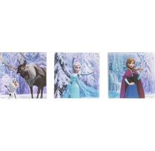 Leinwandbild 3-er Set Frozen Die Eiskönigin 3x 30x30 cm
