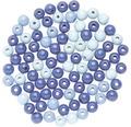 Holzperlen Ø 8mm blau-mix 80-teilig