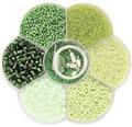 Bastel-Perlenmix grün