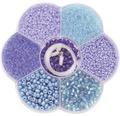 Bastel-Perlenmix blau