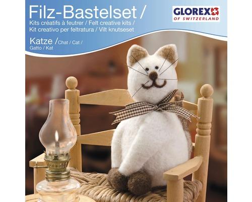Kreativset Filz Katze weiß