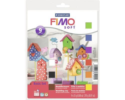 Modelliermasse Fimo Soft Basic-Set 9 Halbblöcke