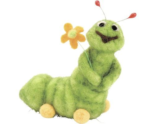 Kreativset Filz Raupe grün