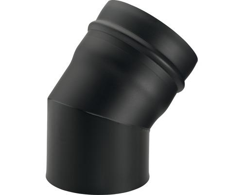 Bogen Pellet 45° DN80 zylindrisch schwarz