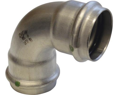 Viega Sanpress Pressfitting mit SC-Contur Bogen 90° 28mm inox 435660