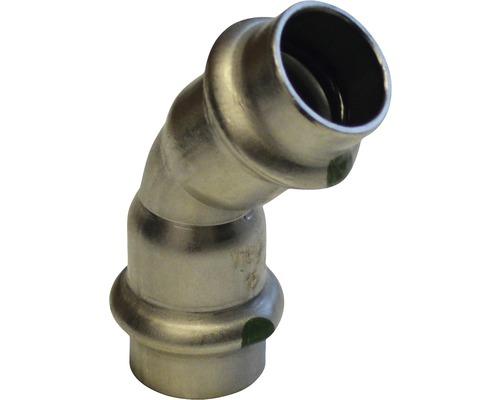 Viega Sanpress Pressfitting mit SC-Contur Bogen 45° 42mm inox 435363