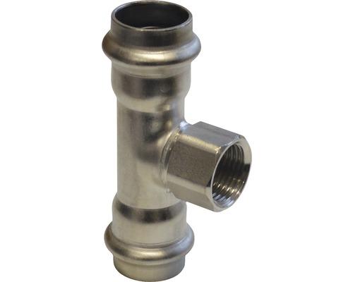 """Viega Sanpress Pressfitting mit SC-Contur T-Stück 22x1/2""""x22mm IG inox 437176"""