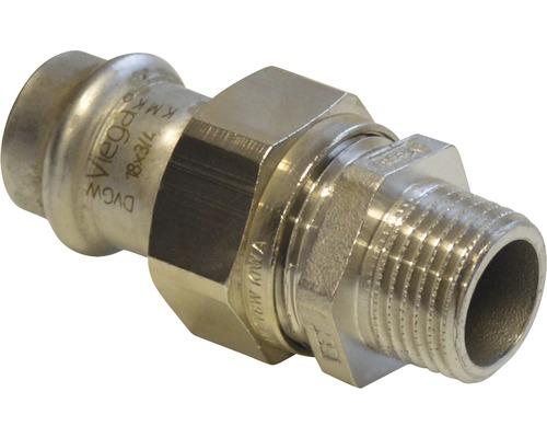 "Viega Sanpress Pressfitting mit SC-Contur Verschraubung 15mmx1/2"" AG inox 438258"