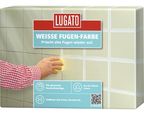 Fugensilikatfarbe Lugato Bunte Fugen-Farbe Weiss 250 ml