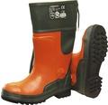 Schnittschutzstiefel orange/grün Gr. 43