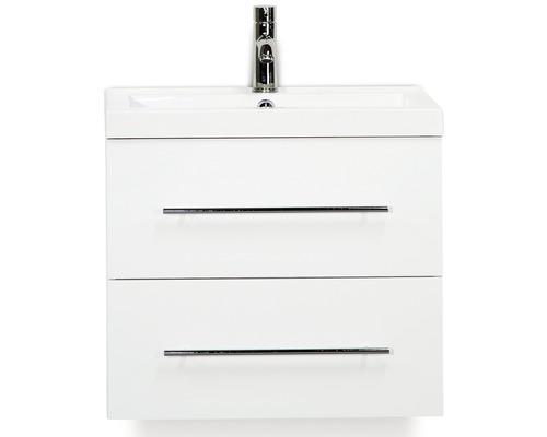 Badmöbel-Set Straight 60 cm mit Waschtisch weiß hochglanz