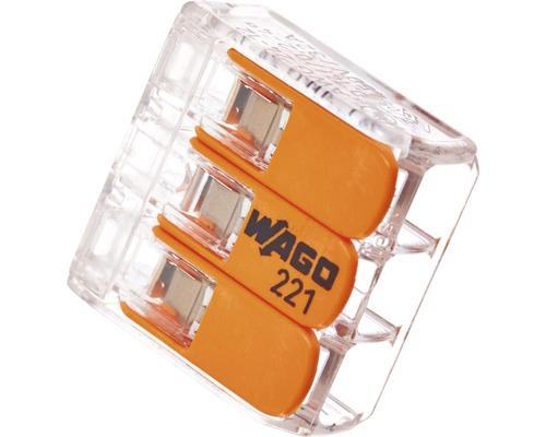 Wago 221-413 Compact Verbindungsklemme 4 mm² 3-Leiter alle Leiterarten 10 Stück