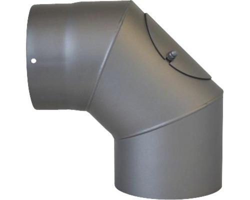 Ofenrohr-Bogen 90° Ø150 mm mit Tür senotherm lackiert gußgrau