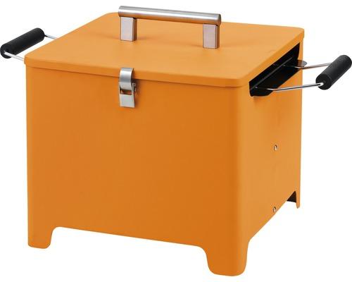 Holzkohlegrill Cube 32x32 cm orange