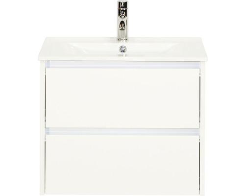 Badmöbel-Set Dante 60 cm mit Keramikwaschtisch weiß hochglanz