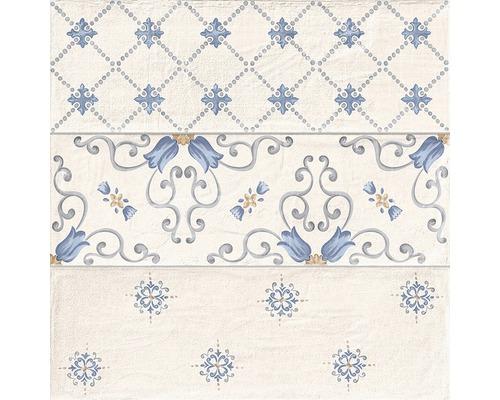 Feinsteinzeug Dekorfliese Brick Flor almond 33,15 x 33,15 cm