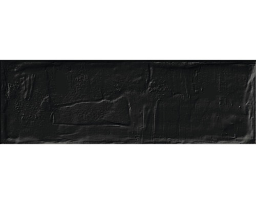 Feinsteinzeug Wandfliese Brick black 11 x 33,15 cm