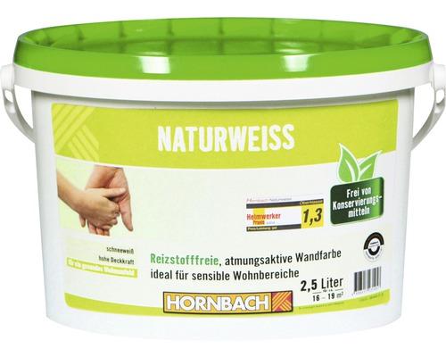Wandfarbe Naturweiß konservierungsmittelfrei 2,5 l