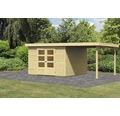Gartenhaus Karibu Kodiak 6 im Set mit Schleppdach 522 x 306 cm natur