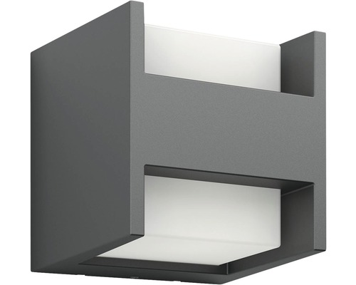 LED Außenwandleuchte 2x4,5W 800 lm warmweiß Arbour anthrazit