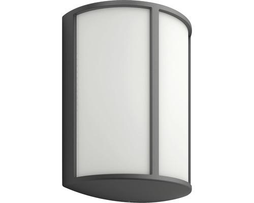 LED Außenwandleuchte 1x6W 600 lm warmweiß Stock anthrazit