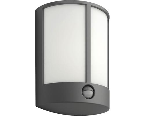 LED Sensor Außenwandleuchte 1x6W 600 lm warmweiß Stock anthrazit
