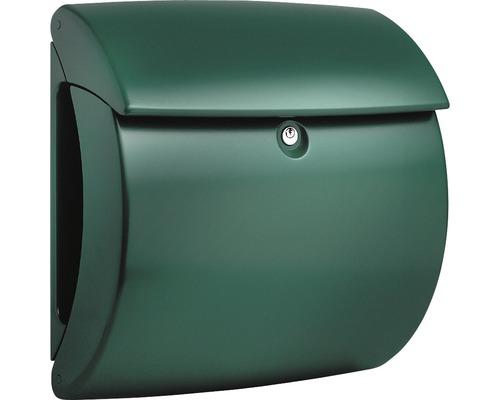 Burg Wächter Briefkasten Kunststoff BxHxT 400/380/178 mm Kiel 886 grün mit Innenlicht Öffnungsstopp