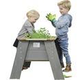 Kinder-Hochbeet auf Stelzen EXIT Aksent Holz Gr. L 93,5x68x50 cm grau