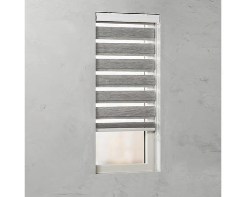 Soluna Doppelrollo D-R7, Struktur grau, 60x175 cm