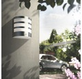LED Sensor Außenwandleuchte 3,5W 320 lm warmweiß edelstahl/weiß