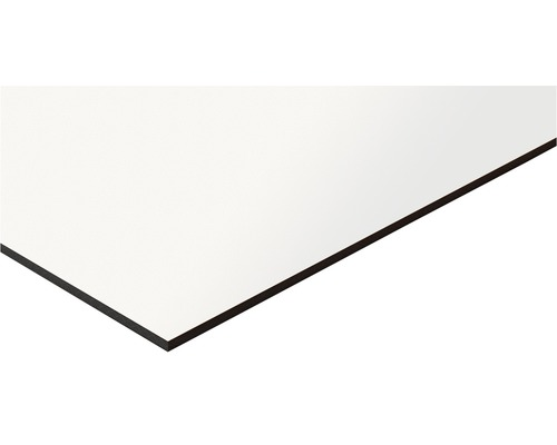 Fixmaß Kompaktplatte weiß 1200x600x3 mm