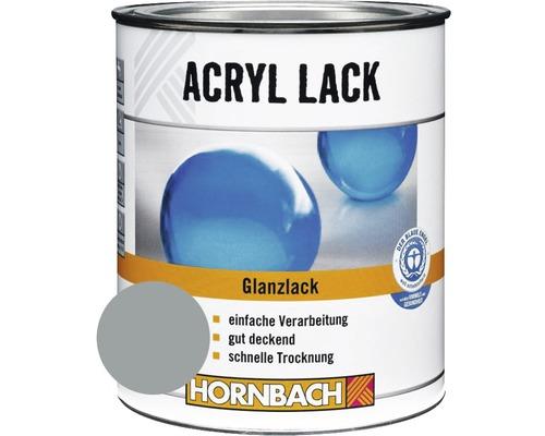 Buntlack Acryllack glänzend silbergrau 375 ml