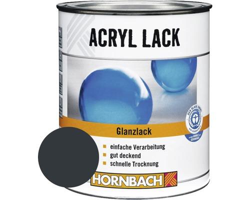 Buntlack Acryllack glänzend anthrazit grau 750 ml