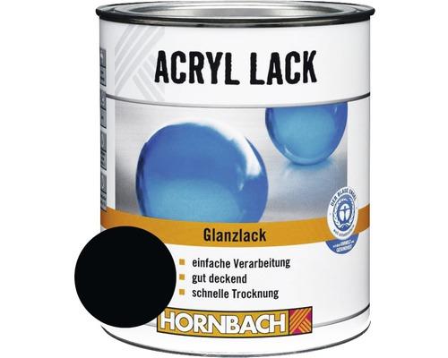 Buntlack Acryllack glänzend tiefschwarz 375 ml