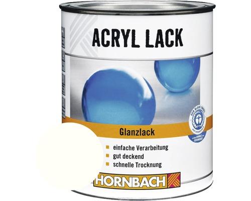 Buntlack Acryllack glänzend glacierweiß 750 ml