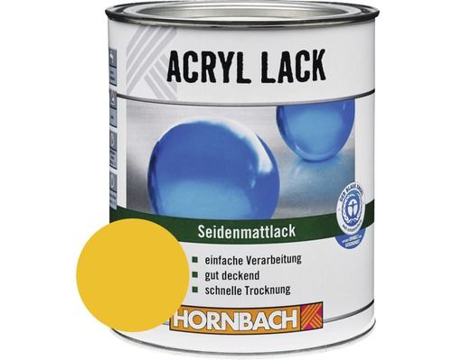 Buntlack Acryllack seidenmatt goldgelb 125 ml