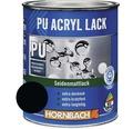 Buntlack PU Acryllack seidenmatt RAL 9005 tiefschwarz 750 ml