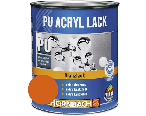 Buntlack PU Acryllack glänzend indesit orange 750 ml