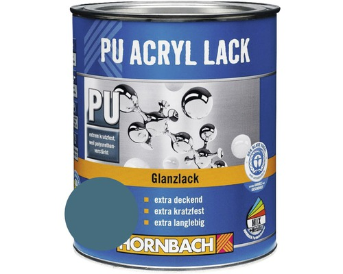 Buntlack PU Acryllack glänzend bisbeet türkis 750 ml