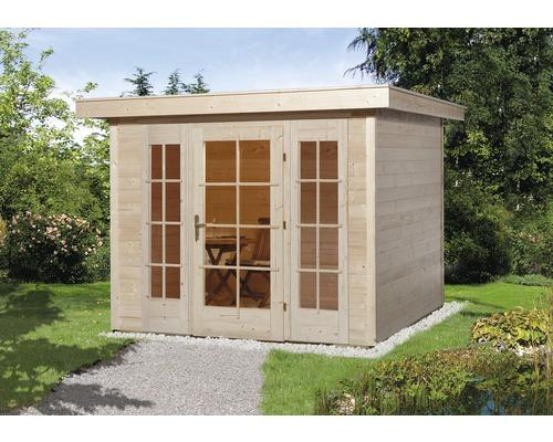 Gartenhaus weka Panorama 172 Gr.1 mit Fußboden 235 x 239 cm natur