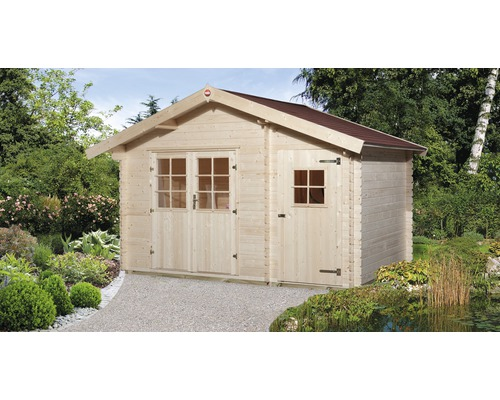 Gartenhaus weka 253 Gr.2 mit Fußboden 370 x 250 cm natur