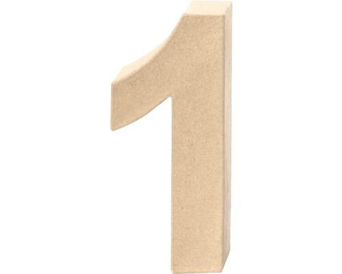 Zahl 1 Pappe 17,5x5,5 cm