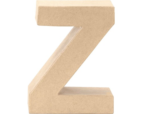 Buchstabe Z Pappe 17,5x5,5 cm