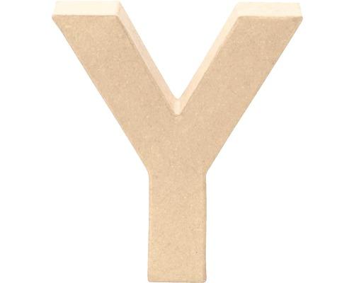 Buchstabe Y Pappe 17,5x5,5 cm